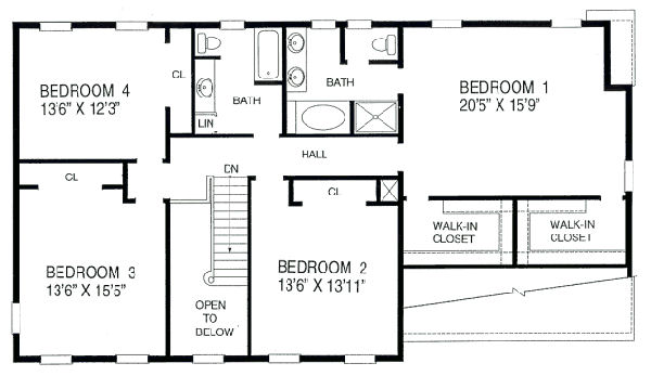 Three bedroom house blue print talentneeds blueprint of a 3 bedroom home malvernweather Images